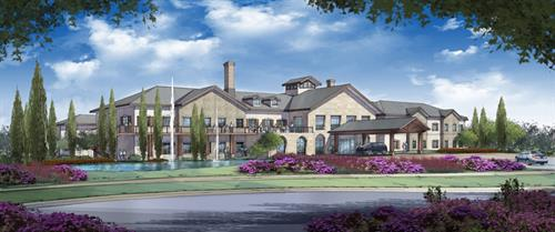 The Artist's rendering of HarborChase of Plano