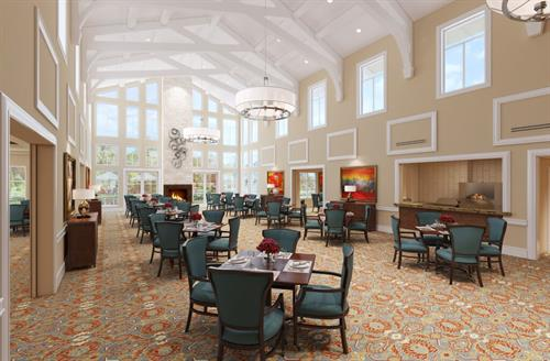Main dining room Assisted Living