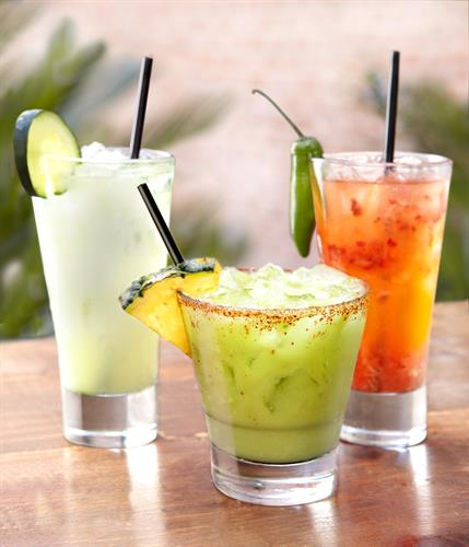 Avocado, Cucumber & Serrano Berry Maragaritas