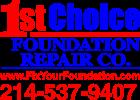 1ST CHOICE FOUNDATION REPAIR CO.