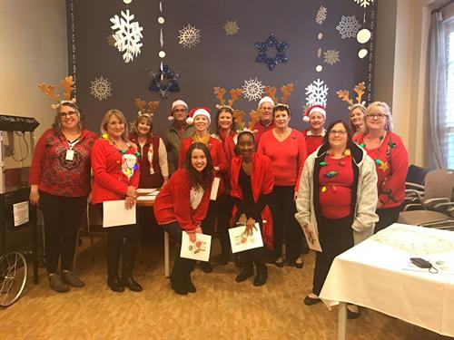 Our employees loved caroling at a local senior living center.