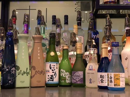 wide seletion of sake