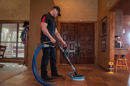 Tile and Grout and Hard Surface Cleaning by Carpet Tech