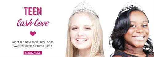 Teen lashes from ages 14 to 17 are available.