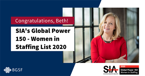 Beth Garvey Featured on SIA's Global Power 150 – Women in Staffing List for 2020