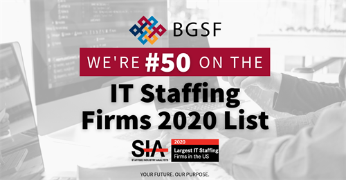 BGSF Named to SIA's Largest IT Staffing Firms List for 2020