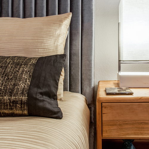 Silver & Gold Guest Bedroom