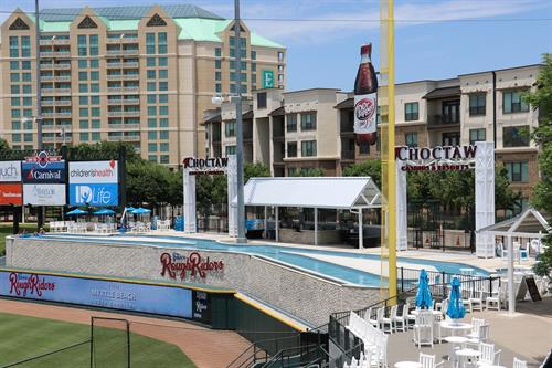 The Choctaw Lazy River - Interested in floating in our Lazy River, the most unique hospitality area in all of professional sports? Call us today to find out how!