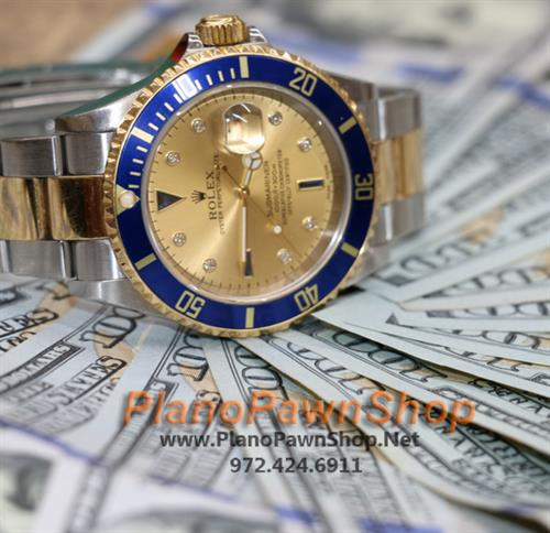 Plano Pawn Shop buys, sells & makes cash loans on Rolex timepieces