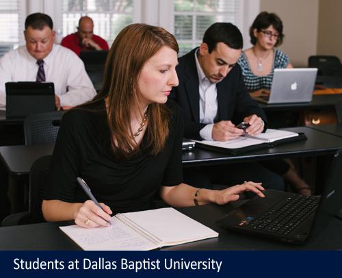 Students at Dallas Baptist University