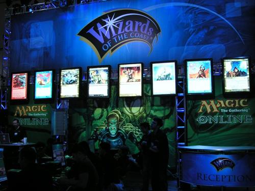 Wizards of the Coast booth at a PAX event.