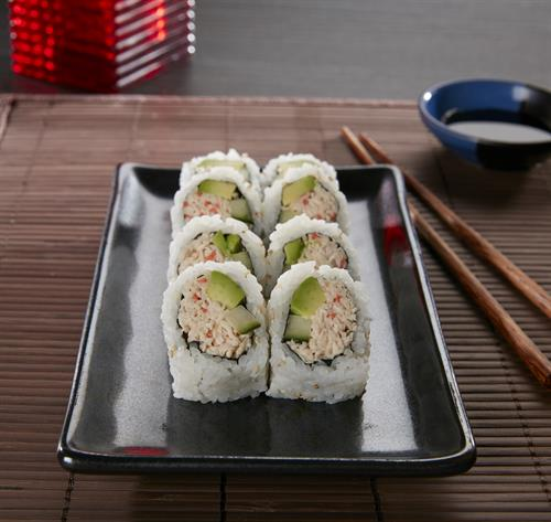 The perfect roll for a sushi newbie, the California Roll