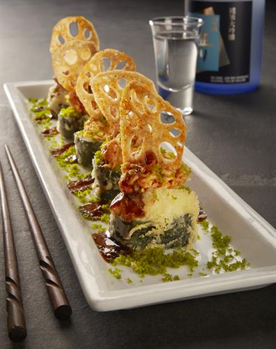 Another crowd pleaser our signature Viva Las Vegas Roll