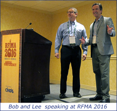 Bob and Lee speaking at RFMA 2016 in Nashville, TN