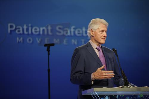 President Clinton, Keynote Speaker, Patient Safety, Science & Technology Summit 2019