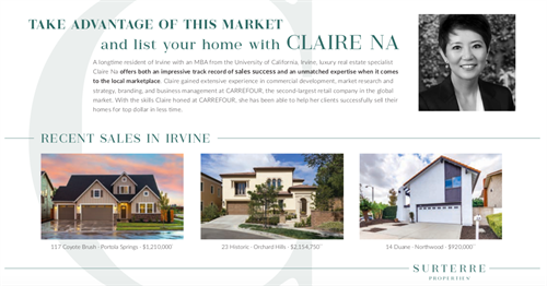 List your home with Claire Na