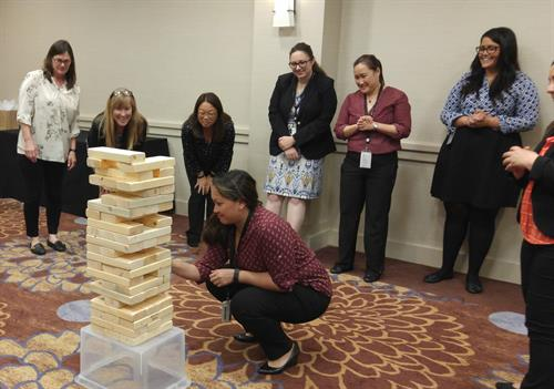 Giant Jenga .. Games Leaders Play ....Builds cooperation, inspires trust and drives communication
