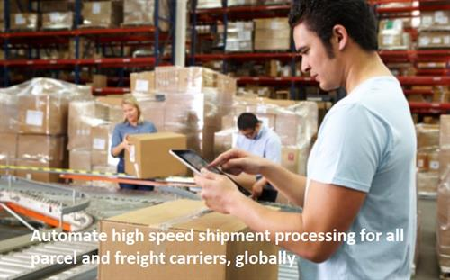 Automate high speed shipment processing for all parcel and freight carriers, globally