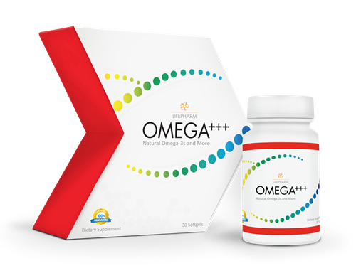 OMEGA+++, 3 types of omegas boosted with vitamins for circulatory health