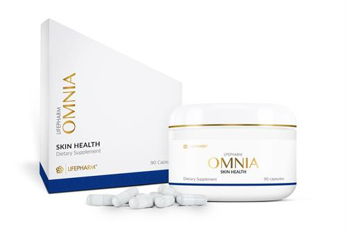 OMNIA, a blend of essential vitamins, minerals, and special nutrients for skin health