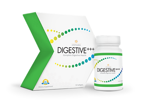 DIGESTIVE+++, a proprietary blend of probiotics, prebiotics, and digestive enzymes for gut health