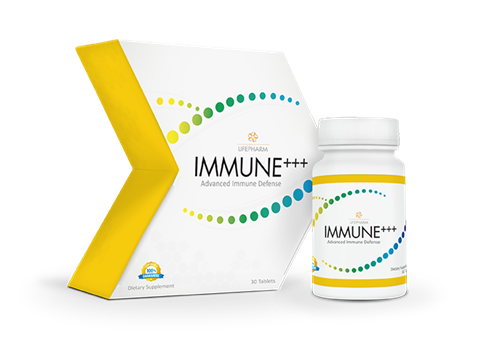 IMMUNE+++, triple Vitamin C, mushroom, and herb blend for strong immune health