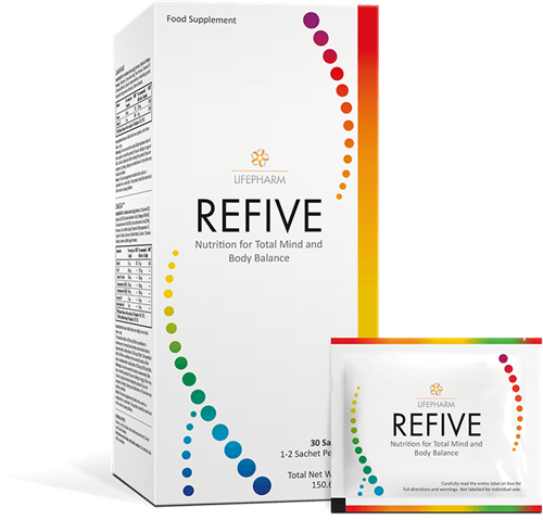 REFIVE, get the 5 essential supplements for your health in 1 convenient packet