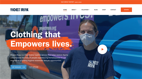 Project Ropa Homepage Redesign - Above Fold