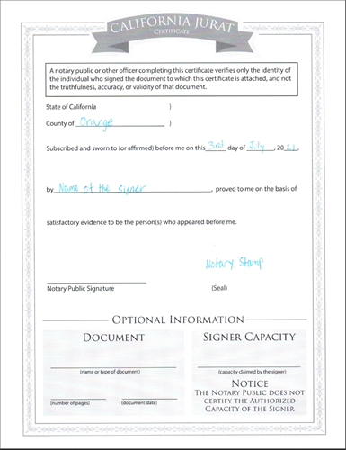 Jurat Notarization