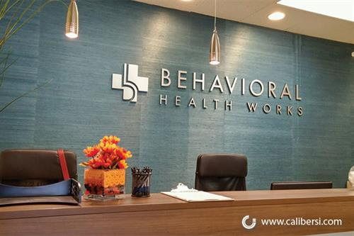 Lobby Sign for Behavioral Health Works in Anaheim, CA.