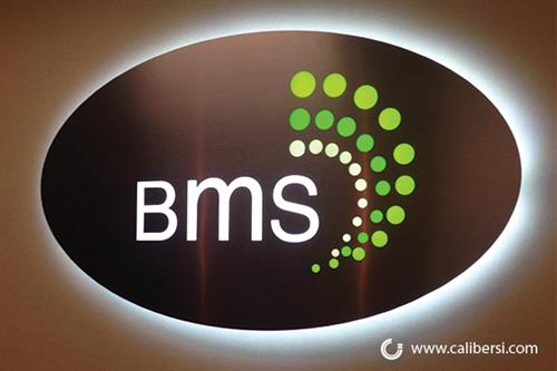 Back lit interior sign for BMS in Irvine, CA