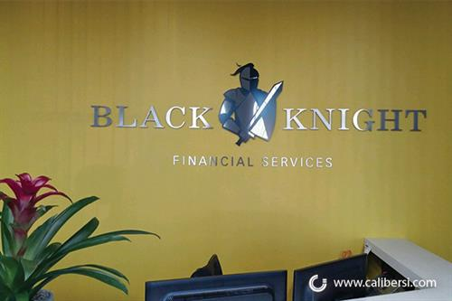 Entrance sign for Black Knight in Irvine, CA.