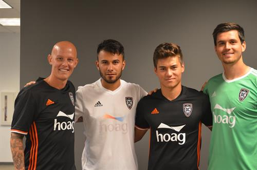 Hoag is the exclusive jersey naming rights partner of Orange County Soccer Club