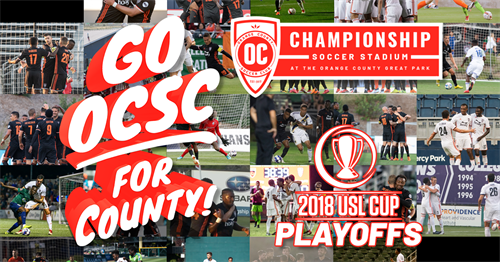 OCSC clinches USL Playoffs in 2018