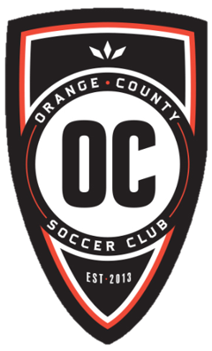 The official logo of the new Orange County Soccer Club
