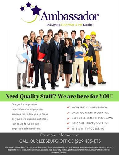 Need Quality Staff? Let us help YOU!