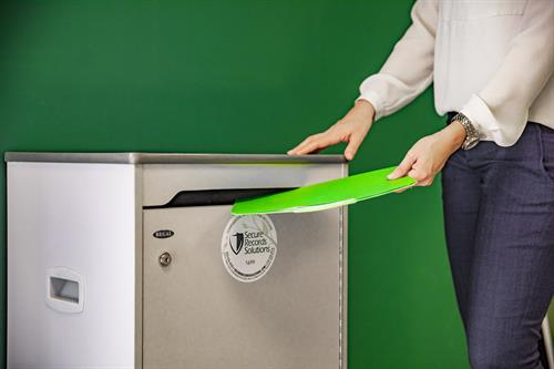We provide regular shredding service for local professionals who observe the best practices of information security