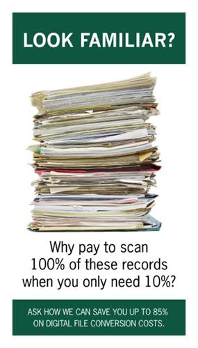Why scan everything, when you only need 10%? We can help you save money on your scanning project.