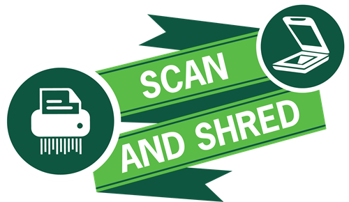 We'll help you eliminate paper by scanning and shredding