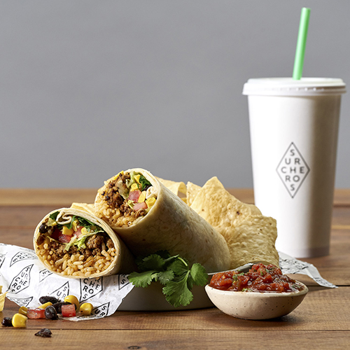 Surcheros Burrito - Served with chips & salsa