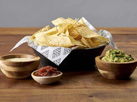 Chips & Dips - White Cheese Dip, Fresh Guac or Salsa with fresh chips