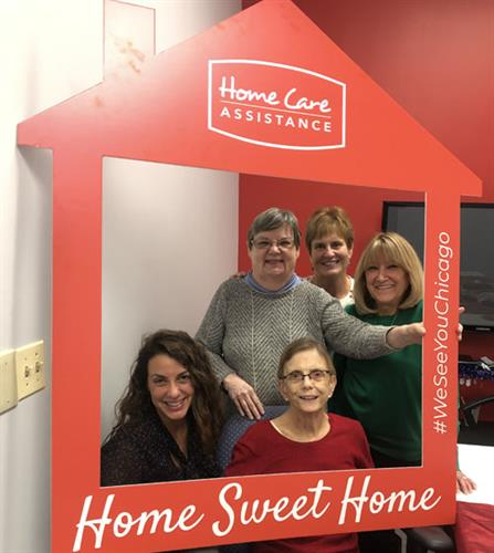 We greeted clients and caregivers at Holiday Open Houses at all office locations.