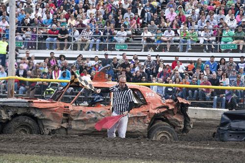 Internationa Demolition Derby - Popular event at Annual Fair