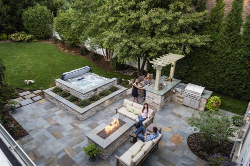 Seen from above, our ILCA Excellence in Landscape Gold Award winner is even more stunning and you can really see the beauty of the stone work.