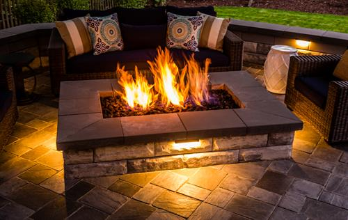 Make your fire pit an elegant feature of your outdoor living space rather than an eyesore.