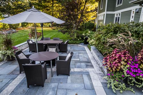 Enjoy the beauty and easy maintenance of a natural stone patio.