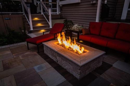 Imagine a lazy summer evening around this custom fire pit.
