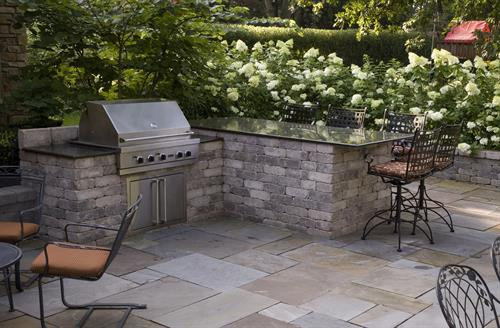 Custom outdoor grill areas let the cook be part of the party.