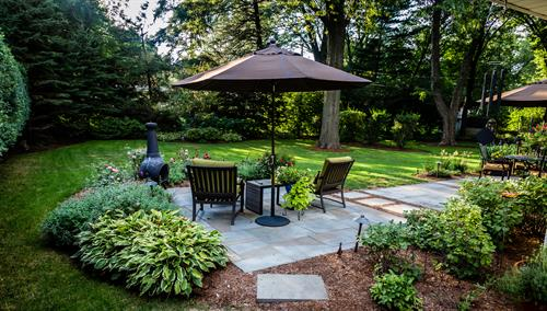 Timeless bluestone seamlessly integrates with the landscape.
