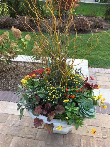Autumn colors are anything but dull in our custom urns.